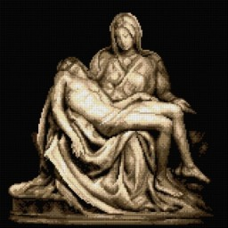 TAPESTRY CANVAS Pieta after Michelangelo 40X40cm 2937R