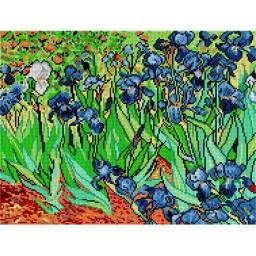 TAPESTRY CANVAS Irises after Vincent van Gogh 36X48cm 1202M