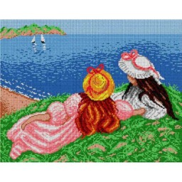 TAPESTRY CANVAS Young Girls on the Coast 40X50cm 1232M