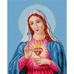 TAPESTRY CANVAS The Heart of Mary 40X50cm 1387M