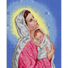 TAPESTRY CANVAS Our Lady 40X50cm 1393M