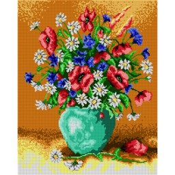 TAPESTRY CANVAS Bouquet of Wild Flowers 40X50cm 1415M