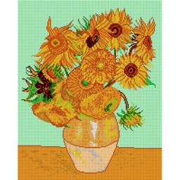 TAPESTRY CANVAS Sunflowers after Vincent van Gogh 40X50cm 1426M