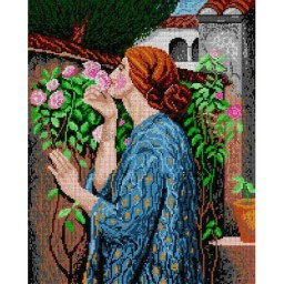 TAPESTRY CANVAS My Sweet Rose after John William Waterhouse 40X50cm 1436M