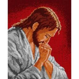 TAPESTRY CANVAS Jesus Prayer 40X50cm 1474M