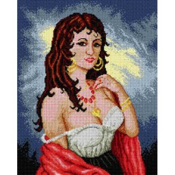 TAPESTRY CANVAS Lady 40X50cm 1619M
