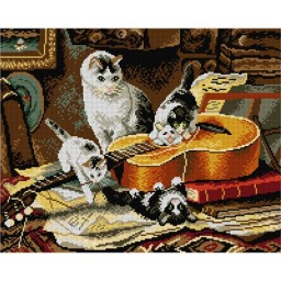 TAPESTRY CANVAS Kittens 40X50cm 1903M
