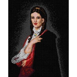 TAPESTRY CANVAS Portrait of Leonia Blubdorn after Henryk Rodakowski 30X40cm 1980J