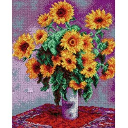 TAPESTRY CANVAS Sunflowers after Claude Monet 40X50cm 1993M