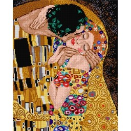 TAPESTRY CANVAS The Kiss 40X50cm 2082M