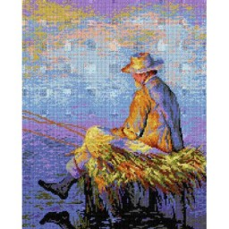 TAPESTRY CANVAS Fisherman 40X50cm 2118M