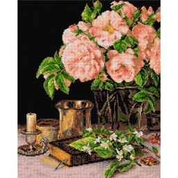 TAPESTRY CANVAS Still Life after Ferdinand George Waldmuller 40X50cm 2132M