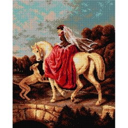 TAPESTRY CANVAS Amazon after Alfred de Dreux 40X50cm 2135M