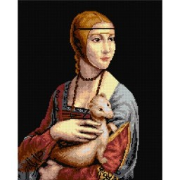 TAPESTRY CANVAS Portrait of Cetilia Gallerani after da Vinci 40X50cm 2151M