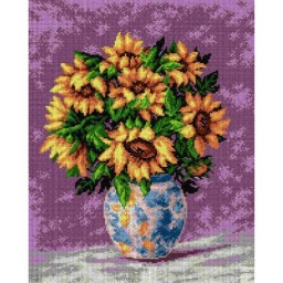 TAPESTRY CANVAS Sunflowers on a Purple Background 40X50cm 2153M
