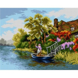TAPESTRY CANVAS Boat Trip 40X50cm 2181M