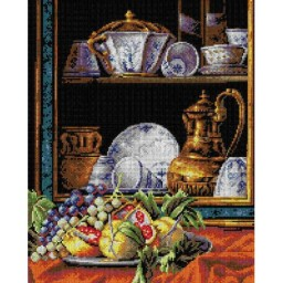 TAPESTRY CANVAS Still Life after Cristoforo Munari 40X50cm 2195M