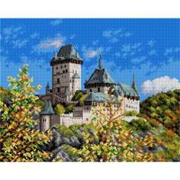 TAPESTRY CANVAS Castle on the Hill - Karlstejn 40X50cm 2215M