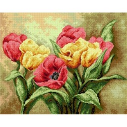 TAPESTRY CANVAS Tulips Bouquet 40X50cm 2248M
