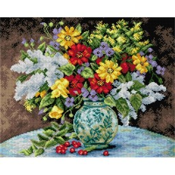 TAPESTRY CANVAS Great Bouquet of Autumn Flowers 40X50cm 2249M
