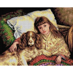 TAPESTRY CANVAS Companions after Karl Bauerle 40X50cm 2266M