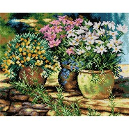 TAPESTRY CANVAS Flower Pots 40X50cm 2274M