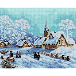 TAPESTRY CANVAS Winter Morning 40X50cm 2287M