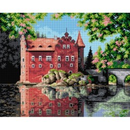 TAPESTRY CANVAS Castle 40X50cm 2298M