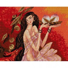 TAPESTRY CANVAS Asian Princess 40X50cm 2301M