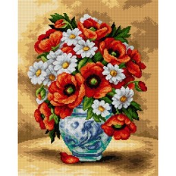 TAPESTRY CANVAS Meadow Flowers Bouquet 40X50cm 2520M