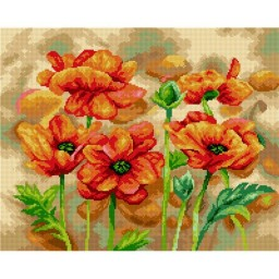 TAPESTRY CANVAS Poppies 40X50cm 2535M