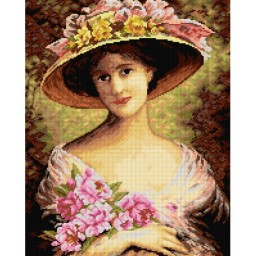 TAPESTRY CANVAS Fancy Bonnet 40X50cm 2609M