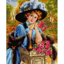 TAPESTRY CANVAS Carnations are for Love 40X50cm 2630M