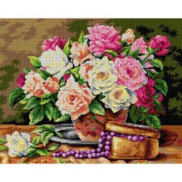 TAPESTRY CANVAS Beautiful Roses 40X50cm 2645M