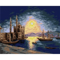 TAPESTRY CANVAS Lunar Night on the Bosphorus 40X50cm 2663M