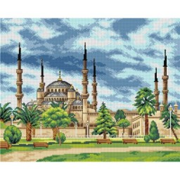 TAPESTRY CANVAS Sultan Ahmed Mosque Istanbul Turkey 40X50cm 2735M
