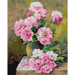 TAPESTRY CANVAS Roses 40X50cm 2738M