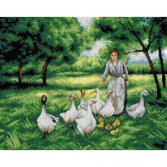 TAPESTRY CANVAS Guiding the Geese after Terese Cotard-Dupre 40X50cm 2747M