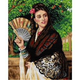 TAPESTRY CANVAS The Pride of Seville after John Bagnold Burgess 40X50cm 2947M
