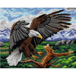 TAPESTRY CANVAS Bald Eagle 40X50cm 3004M