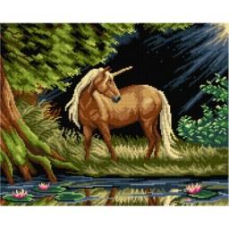 TAPESTRY CANVAS Unicorn 40X50cm 3066M