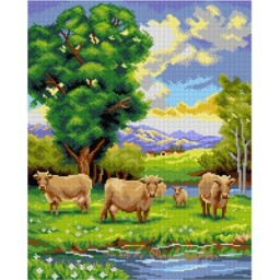 TAPESTRY CANVAS Pride of the Farm after Robert Atkinson Fox 40X50cm 3143M