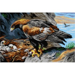 TAPESTRY CANVAS Golden Eagle 40X60cm 3115Q