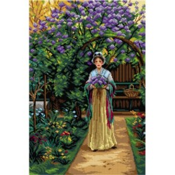TAPESTRY CANVAS Lilac after Edmund Blair Leighton 40X60cm 3115Q 3142Q