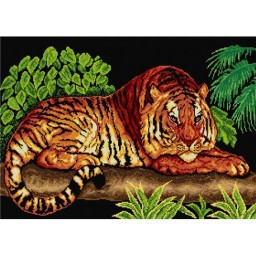 TAPESTRY CANVAS Tiger 50X70cm 1666R