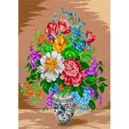TAPESTRY CANVAS Colorful Bouquet 50X70cm 1712R