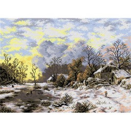 TAPESTRY CANVAS Winter Land after August Piepenbagen 50X70cm 2048R