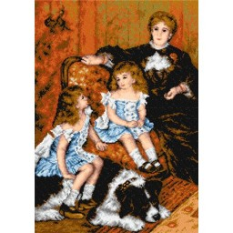 TAPESTRY CANVAS Mrs. Carpentier with Children after Auguste Renoir 50X70cm 2232R