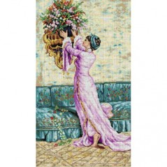 TAPESTRY CANVAS A Woman who is Placing a Vase 40X70cm 2733R