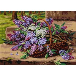 TAPESTRY CANVAS Still Life with Lilacs after Marie Nyl-Frosch 50X70cm 2848R